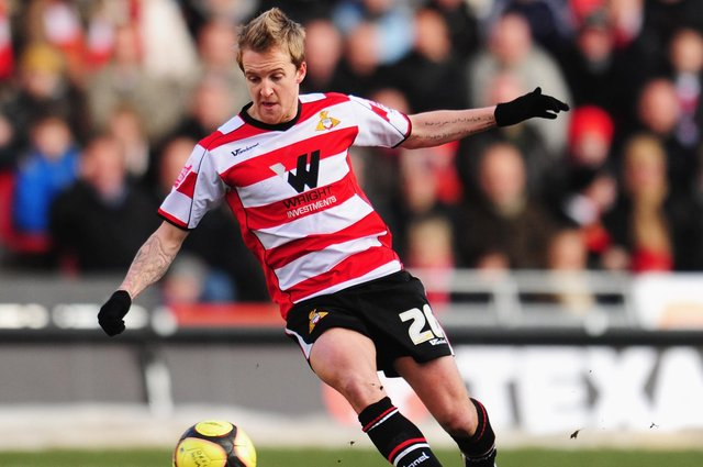 James Coppinger , pictured in action for Doncaster Rovers in 2009. Photo: Mike Hewitt/Getty Images