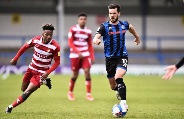 Jason Lokilo in action against Rochdale at the weekend