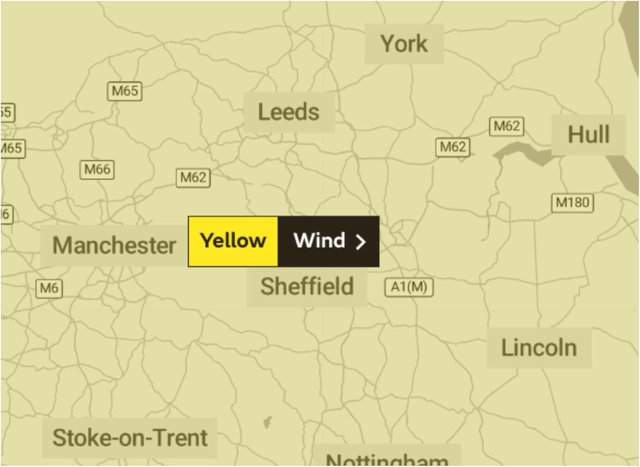 Doncaster is braced for strong winds.