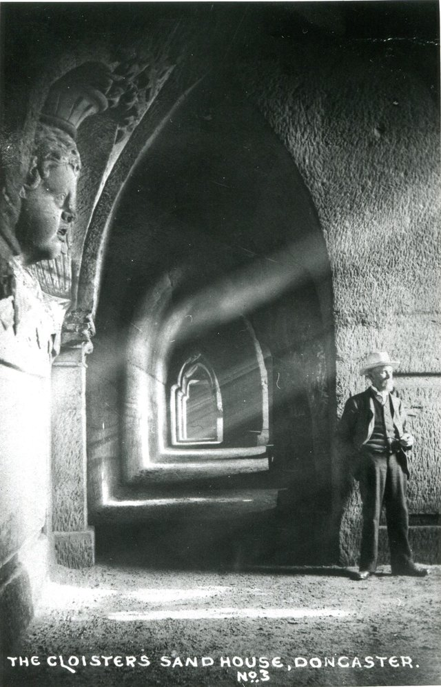 A view of the cloister tunnel. Parts of this tunnel are 4 meters tall.