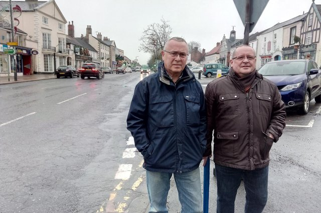 Bawtry Residents' Group members Doug Cartwright and Richard McHale are concerned over traffic being diverted through the town.