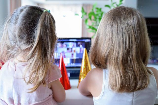 Kids virtual birthday party.