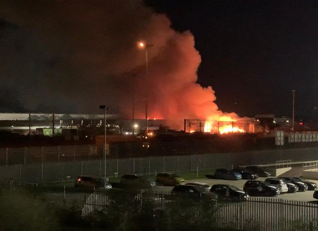 The recycling plant fire in the Carr Hill area of Balby