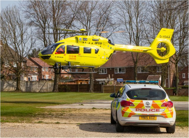 Police and the air ambulance were in attendance at the incident in Conisbrough. (Photo: Paul Willows)