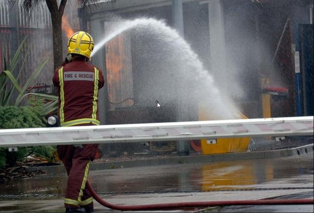 File picture of firefighters at a blaze in Doncaster
