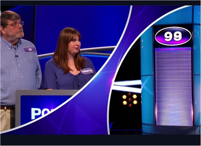 Ian and Samantha were bidding for glory on TV's Pointless. (Photo: BBC).