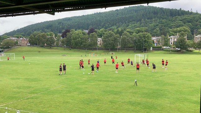 Rovers trained at the home of Peebles Rovers in Scotland.