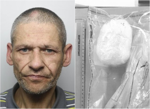 Bernard Hayes was found with 107g of heroin at Doncaster railway station.