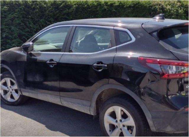 Police say the car was stolen in Stainforth.