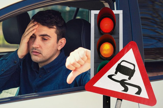 The most common reasons for failing a driving test
