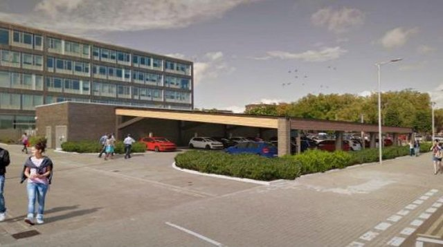 The proposed design for a new council car park