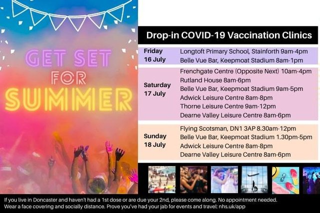 Grab a jab and get set for summer