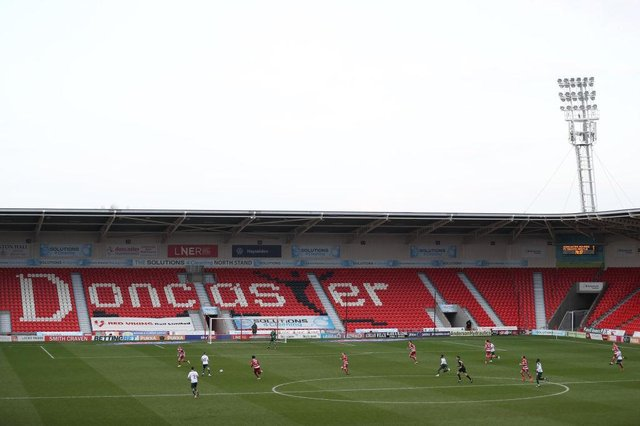 A general view of play during the match between Doncaster Rovers and Plymouth Argyle. Photo: George Wood/Getty Images