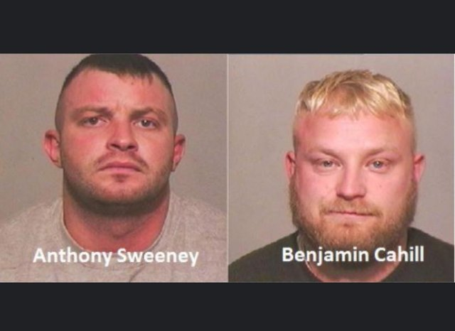 Anthony Sweeney, left, and Benjamin Cahill, right