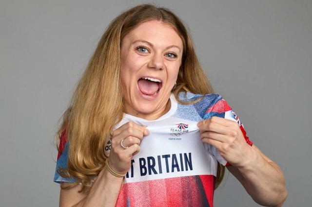 Team GB's Beth Dobbin gets kitted out for the Olympics. Photo by Karl Bridgeman/Getty Images for British Olympic Association