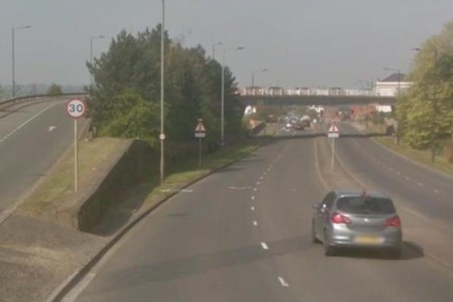 The flyover at Greens Way, Mexborough