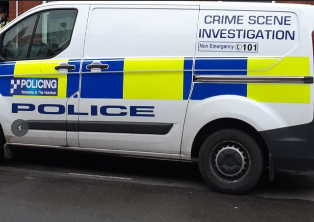 File picture shows police van.