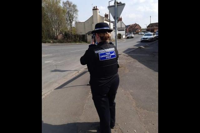 Police checking speeds on Main St, Hatfield
