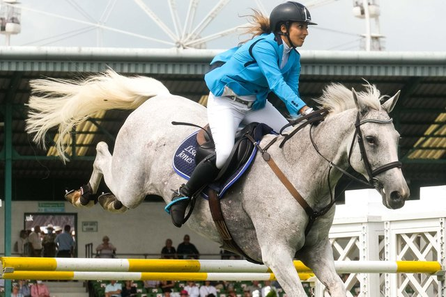 Amateur rider Lisa Jones wins the Stairway Showjumping. Picture by Simon Dewhurst
