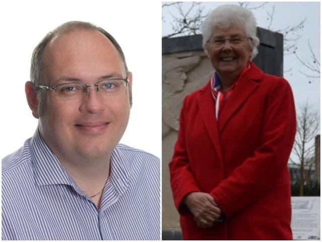 Current Doncaster mayor Ros Jones (right) alongside Conservative candidate James Hart