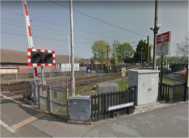Police were called to Bentley railway station last night.