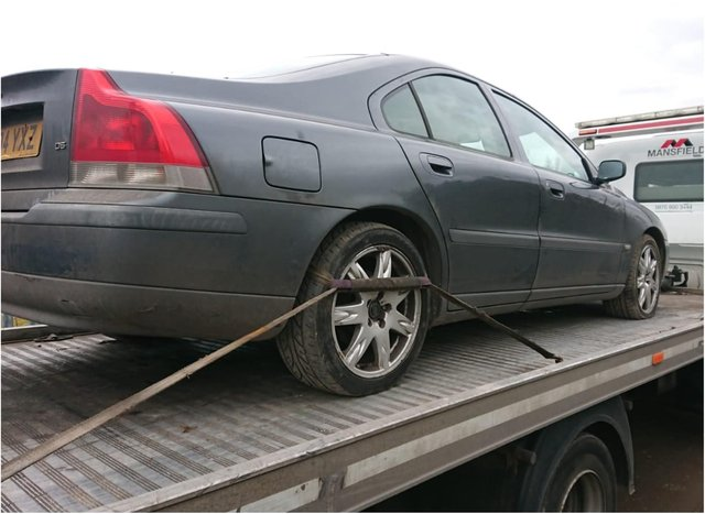 Vehicles were seized in Thorne yesterday.