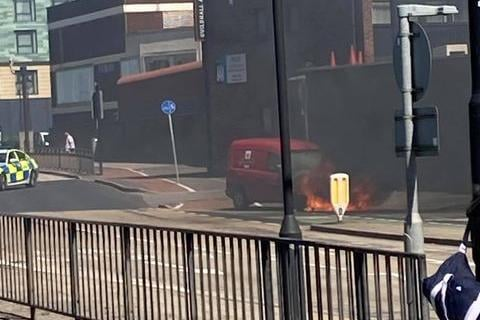 The vehicle well alight. Photo by Tom Boyd
