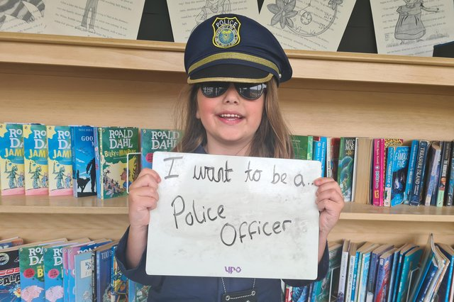 I want to be a police officer.