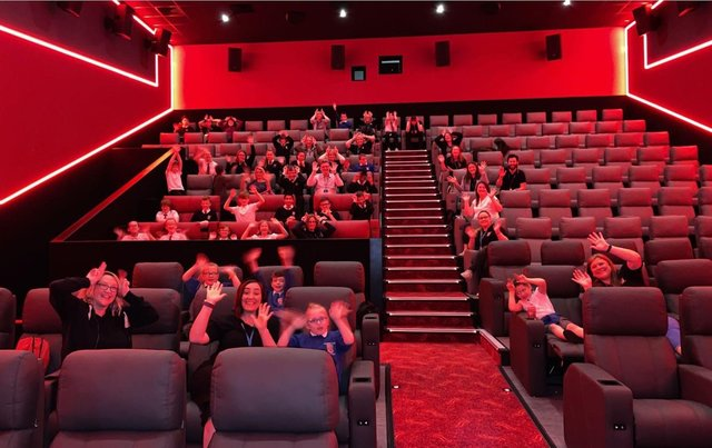 The children enjoyed the accessible film.
