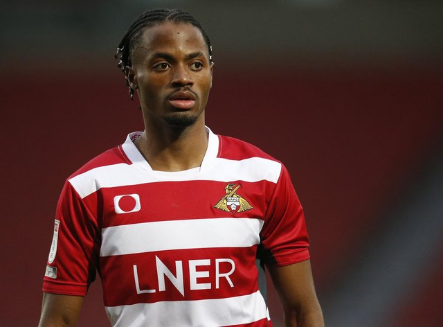 Madger Gomes played as the lone striker against Crewe