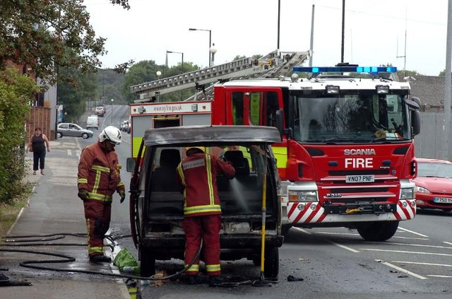 File picture of car fire