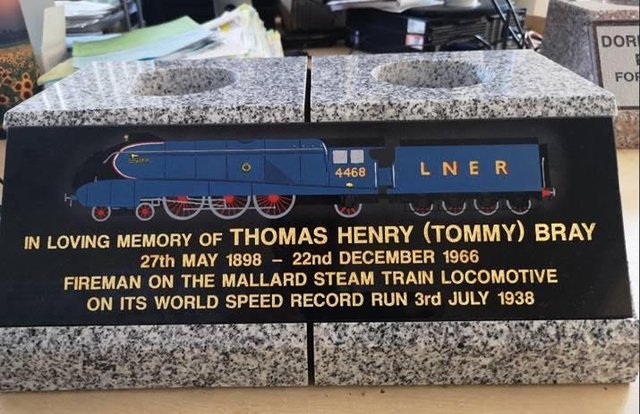 The memorial to Thomas Henry Bray which will be unveiled in a ceremony at Rosehill Crematorium.