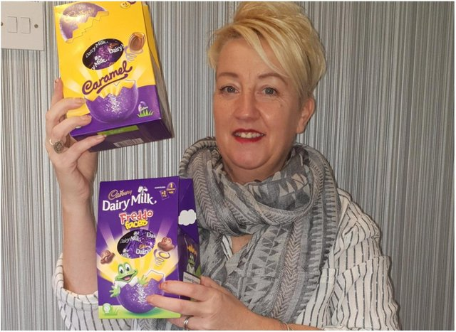 Michelle McMahon is collecting Easter eggs for Doncaster children.