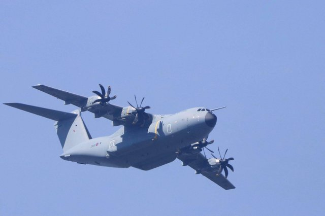 The huge RAF aircraft was spotted in the skies over Doncaster. (Photo: Tony Critchley).