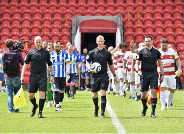 The Legends match raised a whopping £60,000.