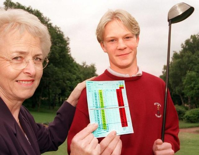 Andrew Bradley set a new record at Doncaster Golf Club in 1999.