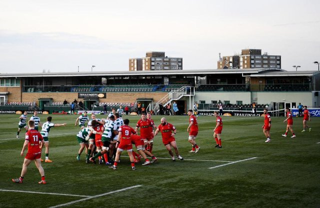 Doncaster Knights in action at Ealing Trailfinders in pre-season. Photo: Alex Davidson/Getty Images