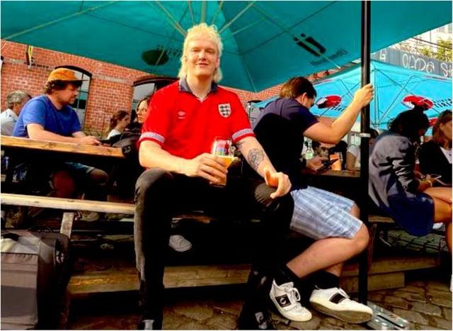 Joel Phillips will be flying the flag for England in Rome. (Photo: Joel Phillips/Twitter).