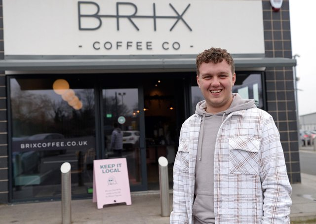 Josh Skelhorn, Head Chef, pictured outside Brix Coffee Co, Kirk Sandall.  Picture: NDFP-02-03-21-BrixCoffee 1-NMSY