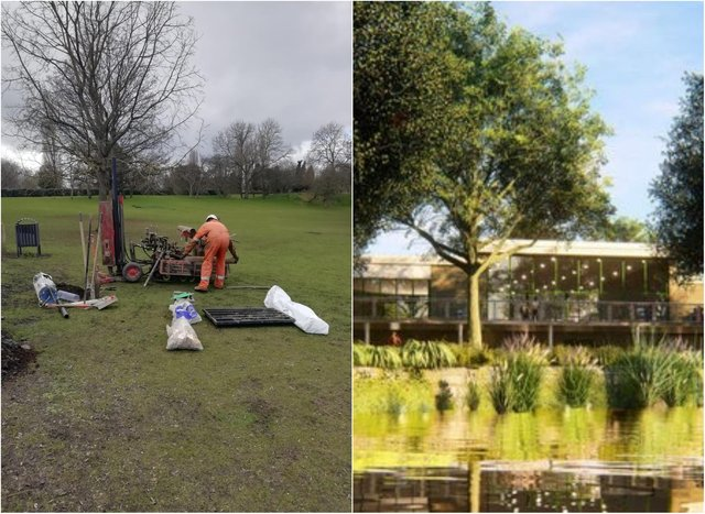 Work has started on plans to replace Sandall Park cafe.