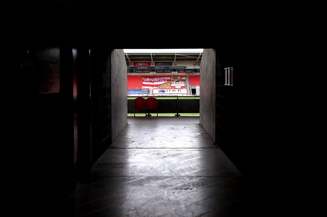 Light at the end of the tunnel: Fans are set to return to the Keepmoat Stadium next season. Photo by George Wood/Getty Images