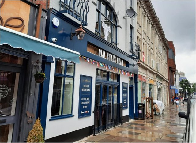 The Old Bull's Head is back in business after being shut by police and licensing chiefs.
