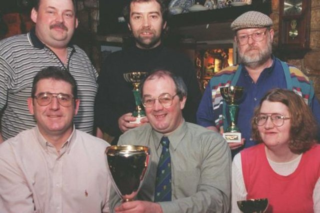 The Star Quiz league team at the Cadeby Inn in 1999.