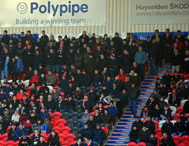 Rovers fans in the Keepmoat last year