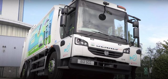 An electric bin lorry similar to the one Doncaster Council are currently trialling