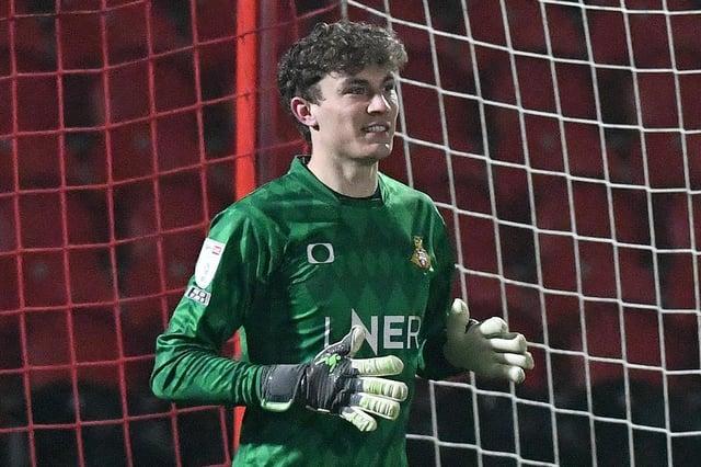 Louis Jones made his league debut against Portsmouth.