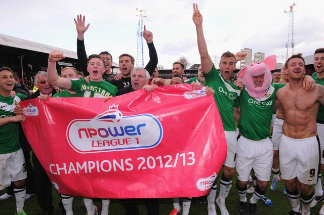 Rovers celebrate promotion at Brentford