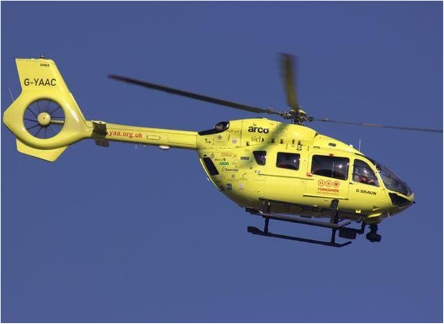 The air ambulance was called to an incident in Wheatley.