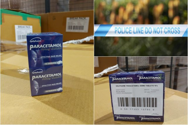 Paracetamol tablets worth £30,000 were stolen from a lorry parked overnight in Barnsley while the driver slept