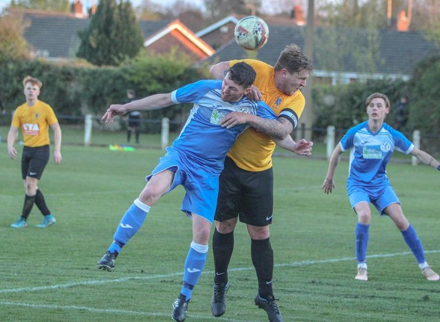 Action from Armthorpe Welfare Development's win over Epworth Town Colts Blues. Photo: Steve Pennock